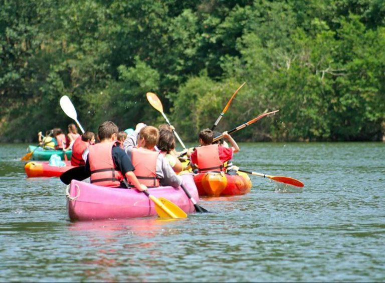 Canoë Kayak à la base de loisirs de Mervent