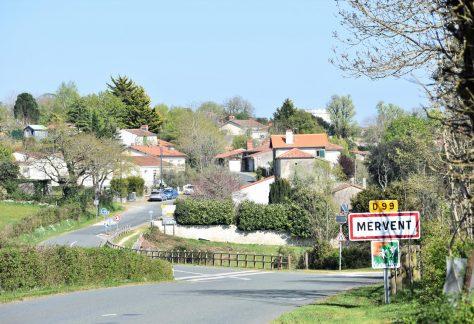 Entrée du village de Mervent
