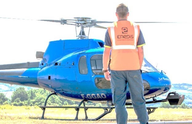 Vol hélicoptère ENEDIS