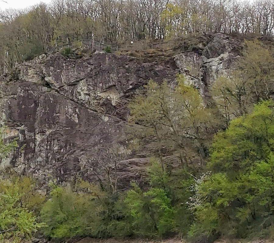 Rocher de Pierre Blanche en forêt de Mervent